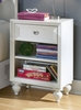 Lea Elite Zoe One Drawer Nightstand in White - 070-431