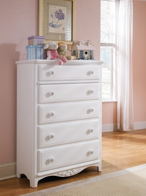 Lea Haley Bedroom White Chest of Drawers - Lea American Drew - 012-151