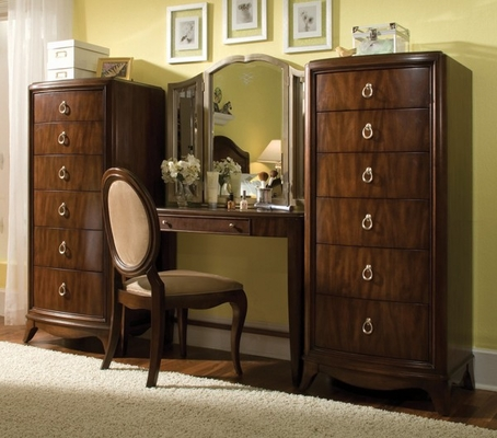 Lea Rhapsody Bedroom Vanity with Two Lingerie Chests - Lea American Drew - RHAPSODYSET1