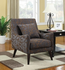 Leaf Pattern Upholstered Accent Chair - 902086