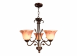 Leaf Vine Hand Painted 3-Light Chandelier - Dale Tiffany