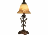Leaf Vine Hand Painted Mini Lamp - Dale Tiffany