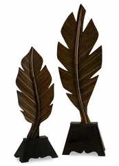 Leaf With Stand (Set of 2) - IMAX - 47140-2