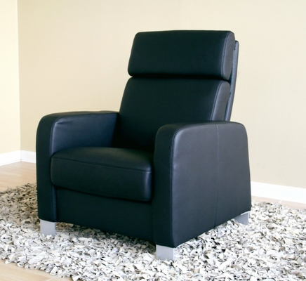 Leather Chair in Black - 1039-CHAIR-BLK