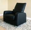 Leather Chair in Black - 1050-CHAIR-BLK