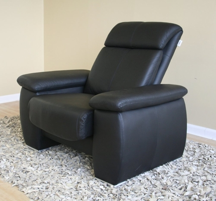 Leather Chair in Black - 1090-CHAIR-BLK