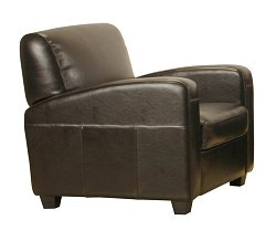 Leather Chair in Dark Brown - A3039-J001-CHAIR