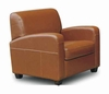 Leather Chair in Light Brown - A3039-J010-CHAIR