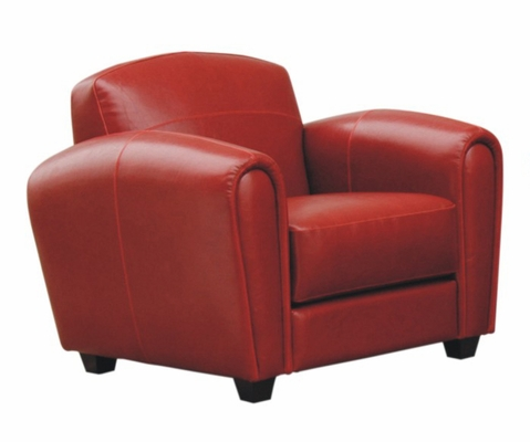 Leather Chair in Red - A3007-J067-CHAIR