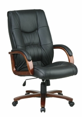 Leather High Back Chair - Office Star - WD5360
