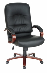 Leather High Back Chair - Office Star - WD5670