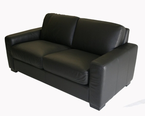 Leather Loveseat in Black - 830-M9812-LOVESEAT
