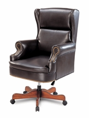 Leather Office Chair in Cherry - Coaster