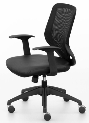 Leather Office Chair with Mesh Back - Eco 9595GS - Standard Systems Seating - 9595GS