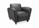 Leather Reception Area  Chair - Black - LLR68952