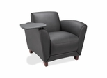 Leather Reception Area  Chair - Black - LLR68953