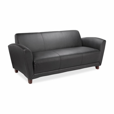 Leather Reception Area  Sofa - Black - LLR68950