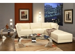Leather Sectional Sofa Set - 5 Piece in White Leather - Coaster