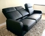 Leather Sofa - 3-Seater Chair in Black - 1039-3SEATER-BLK
