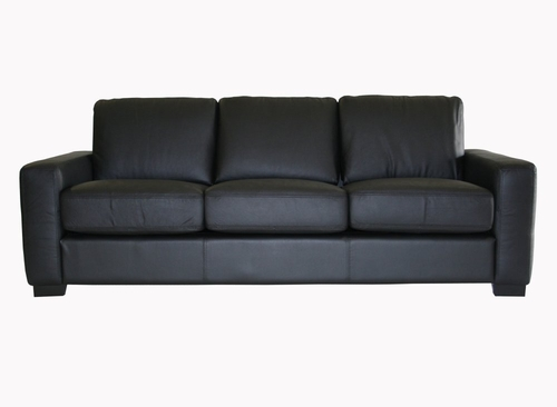 Leather Sofa in Black - 830-M9812-SOFA