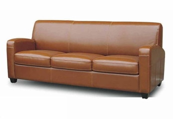 Leather Sofa in Light Brown - A3039-J010-SOFA