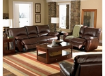 Leather Sofa Set - 3 Piece in Brown Leather - Coaster
