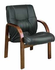 Leather Visitors Chair - Office Star - WD5365