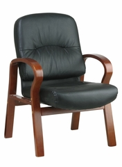 Leather Visitors Chair - Office Star - WD5675