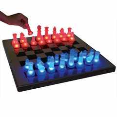 LED Glow Chess Set Blue/Red - LumiSource - SUP-LEDCHES-BR