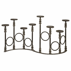 Lefroy Eight Pillar Candle Stand - IMAX - 56328