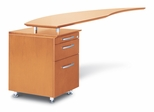 Left Desk Return with File in Golden Cherry - Mayline Office Furniture - NRTPLGCH