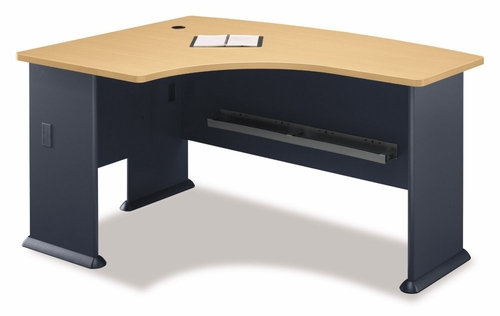 Left Side Bow Desk- Series A Beech Collection - Bush Office Furniture - WC14333