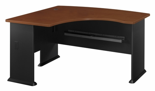 Left Side Bow Desk- Series A Hansen Cherry Collection - Bush Office Furniture - WC94433