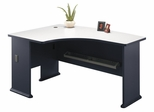 Left Side Bow Desk- Series A Slate Collection - Bush Office Furniture - WC84833