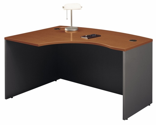 Left Side Bow Desk- Series C Auburn Maple Collection - Bush Office Furniture - WC48533