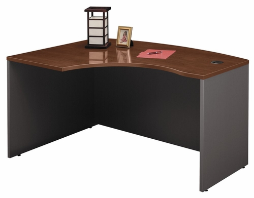 Left Side Bow Desk- Series C Hansen Cherry Collection - Bush Office Furniture - WC24433
