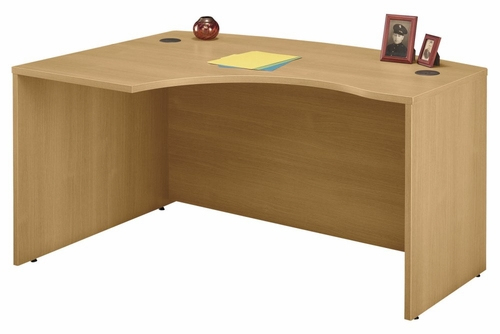 Left Side Bow Desk- Series C Light Oak Collection - Bush Office Furniture - WC60333