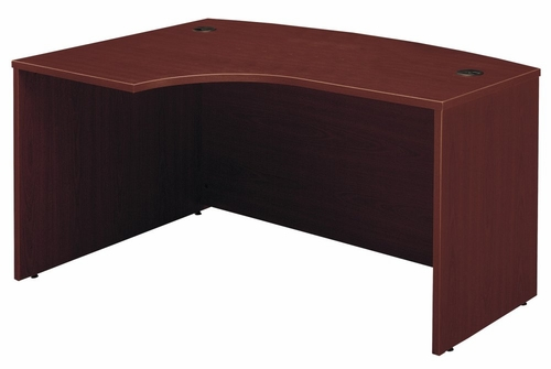 Left Side Bow Desk- Series C Mahogany Collection - Bush Office Furniture - WC36733