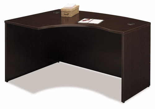 Left Side Bow Desk- Series C Mocha Cherry Collection - Bush Office Furniture - WC12933
