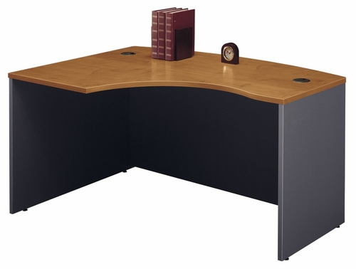 Left Side Bow Desk- Series C Natural Cherry Collection - Bush Office Furniture - WC72433