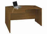 Left Side Bow Desk- Series C Warm Oak Collection - Bush Office Furniture - WC67533