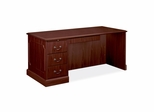Left Single Pedestal Desk - Mahogany - HON94284LNN