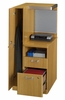 Left Storage Tower - Quantum Modern Cherry Collection - Bush Office Furniture - QT2836MCK