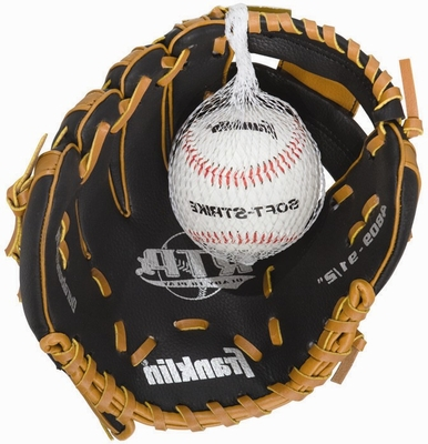 Lefty Teeball Glove and Ball Tan / Black - Franklin Sports