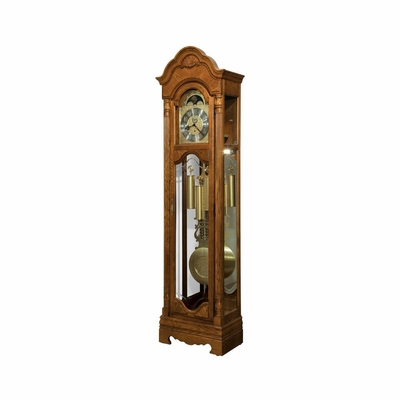 Leighton Grandfather Clock in Legacy Oak - Howard Miller