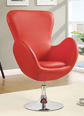 Leisure Swivel Chair in Red - 902101