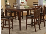 Lenox Counter Height Table in Medium Brown - Coaster - 102168