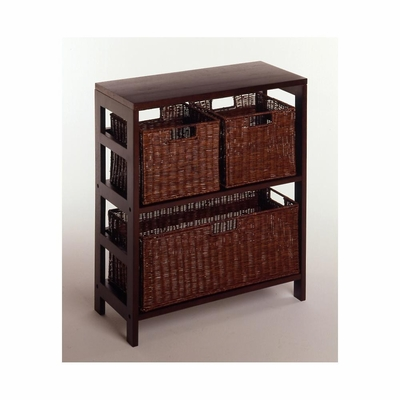 Leo 4 Piece Storage Shelf - Winsome Trading - 92649