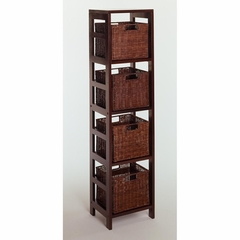 Leo 5 Piece Storage Shelf - Winsome Trading - 92814