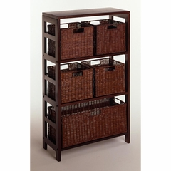 Leo 6 Piece Storage Shelf - Winsome Trading - 92625